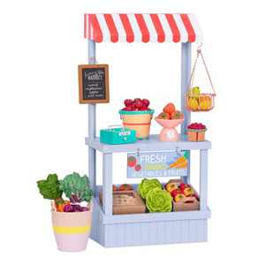 """Our Generation Farmers' Market Accessory Set with Play Food for 18"""" Dolls"""