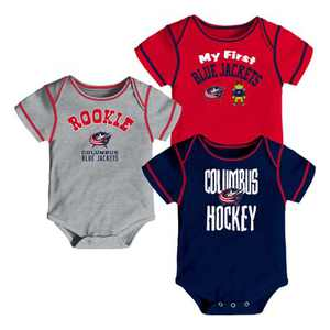 NHL Columbus Blue Jackets Boys' Game Winner 3pk Body Suit Set 18 M
