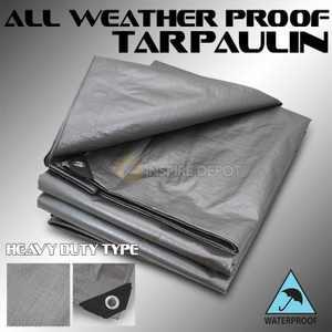 Stark 10' x 16' ft Multi-Purpose Tarps Heavy Duty Waterproof Poly Tarp Cover Thick 14 Mil Tarpaulin
