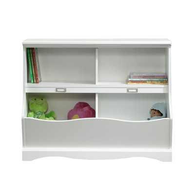 Twin Pogo Bookcase/Footboard Soft White Finish - Sauder
