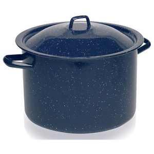IMUSA 4qt Enamel Stock Pot Blue