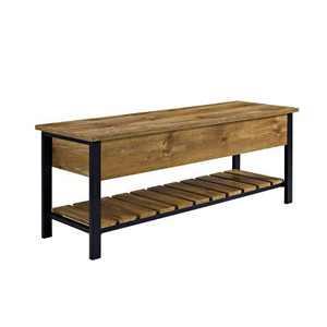 "48"" Open Top Storage Bench with Shoe Shelf - Saracina Home"