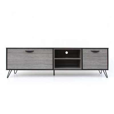 "Isadora 71"" Mid Century TV Stand Sonoma Gray/Black - Christopher Knight Home"