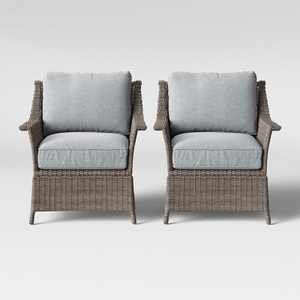 Foxborough 2pk Patio Club Chair Gray - Threshold™