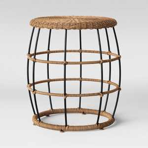 Southport Patio End Table Black/Brown  - Opalhouse™