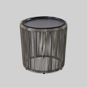 Latigo Patio Side Table with Tray - Brown - Opalhouse™