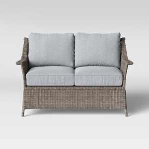 Foxborough Patio Loveseat Gray - Threshold™