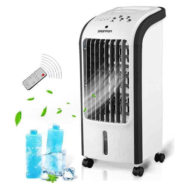 New 3-IN-1 Air Cooler Humidifier Evaporative Air Cooler Fan Home Dormitory Small Air Cooler Fan Ideal for Home and Office W/ Remote Control
