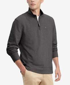 Men's TH Flex French Rib Quarter-Zip Knit Pullover