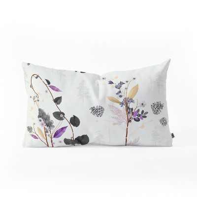 Iveta Abolina Woodland Dream Lumbar Throw Pillow White - Deny Designs