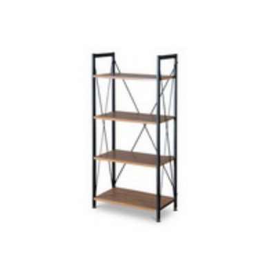 "50.10"" New Semester Bookshelf Brown/Black - Baxton Studio"