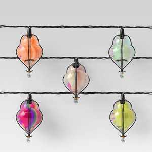 10ct Incandescent Mini Teardrop Outdoor String Lights Multi-Colored - Opalhouse™