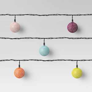 10ct Incandescent Mini Outdoor Colored String Orb String Lights - Opalhouse™
