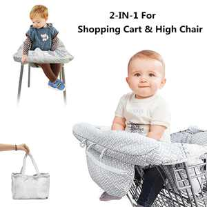 Stoneway 2in1 Portable Baby Shopping Cart Cover for Baby and Toddler, High Chair Cover Protector with Safety Harness, Great Gifts for Infant