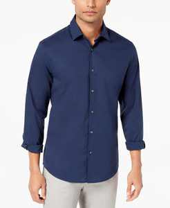 Men's Stretch Modern Solid Shirt, Created for Macy's