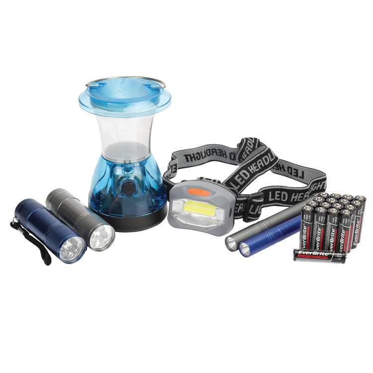 Ozark Trail 6-Piece Flashlight Headlamp Lantern Penlight Combination, Model 4937