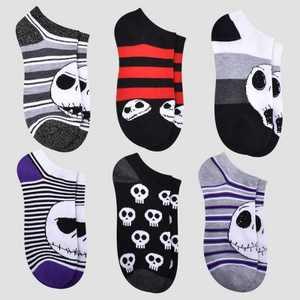 Women's Nightmare Before Christmas 6pk Low Cut Socks - Assorted Colors 4-10