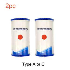 2pcs for Intex Easy Set Swimming Pool Type A/C Filter Cartridges Replacement