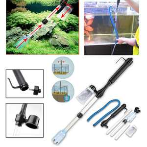 Electric Aquarium Fish Tank Syphon Auto Vacuum Water Filter filtercleaner Cleaner Washer Cleaning Tool
