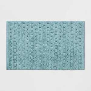 Woven Textured Aqua Bath Rug Aqua - Opalhouse™