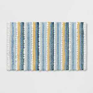 "20""x32"" Textured Bath Rug Aqua - Opalhouse™"