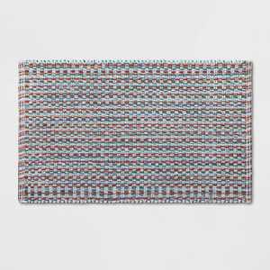 "20""x32"" Woven Pattern Flat Bath Rug - Opalhouse™"