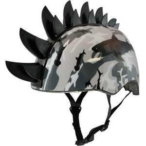 Raskullz Sharkmo Mohwak Child Helmet - Black/Gray