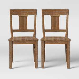 2pk Wheaton Rustic Dining Chair Brown - Threshold™
