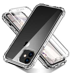"""iPhone 11 6.1"""" Case with Built in Screen Protector, Allytech Full Body Shockproof Dual Layer High Impact Protective Anti-Scratch Soft TPU Cover Cases for iPhone 11 6.1 inch 2019, Clear"""