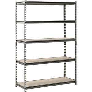 "Muscle Rack 48"" W x 18"" D x 72"" H 5-Shelf Steel Freestanding Shelves, Silver-Vein"