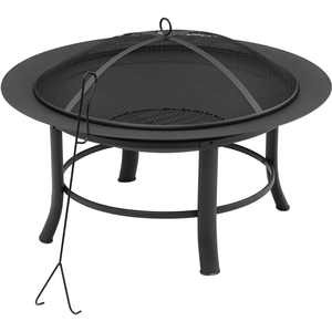 "Mainstays 28"" Fire Pit with PVC Cover and Spark Guard"