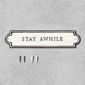 'Stay Awhile' Wall Sign Cream/Black - Hearth & Hand™ with Magnolia