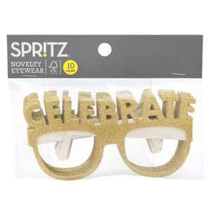 "10ct ""Celebrate"" Party Glasses Gold - Spritz™"