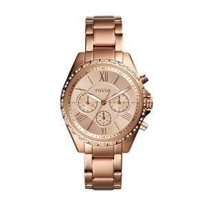 Fossil Women's Modern Courier Chronograph Rose Gold-Tone Stainless Steel Watch