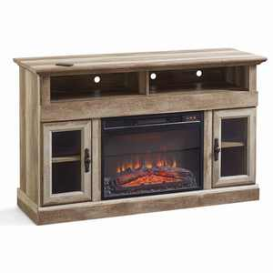 """Better Homes & Gardens Crossmill Fireplace Media Console for TVs up to 60"""", Weathered Finish"""