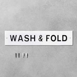 'Wash & Fold' Wall Sign White/Black - Hearth & Hand™ with Magnolia