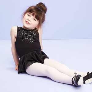 Toddler Girls' Dancewear Tank Leotard with Skirt - More Than Magic Black