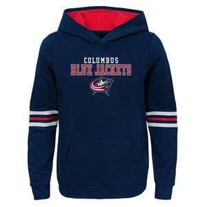 NHL Columbus Blue Jackets Girls' Open Neck Fleece Hoodie - S