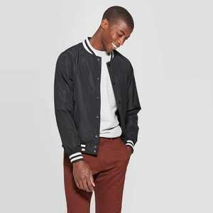 Men's Varsity Bomber Jacket - Goodfellow & Co™ Black