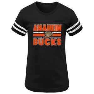 NHL Anaheim Ducks Girls' Netminder Fashion T-Shirt - XS