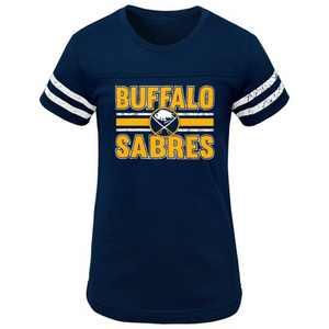 NHL Buffalo Sabres Girls' Netminder Fashion T-Shirt - S
