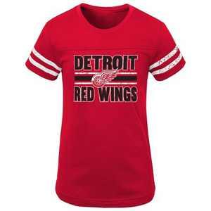 NHL Detroit Red Wings Girls' Netminder Fashion T-Shirt - XL