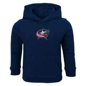 NHL Columbus Blue Jackets Toddler Boys' Shootout Poly Hoodie - 12M