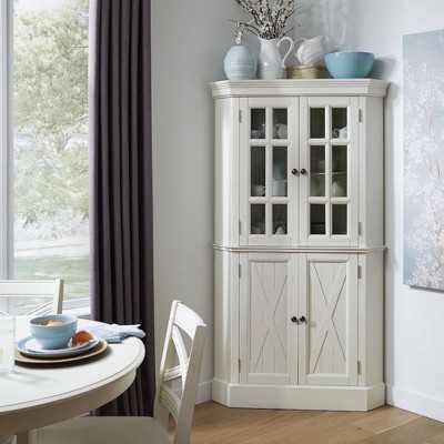 Seaside Lodge Corner Cabinet White - Home Styles