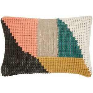 "14""x20"" Oversize Life Styles Woven Geometric Lumbar Throw Pillow - Mina Victory"