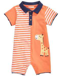Cotton Giraffe Romper, Baby Boys, Created for Macy's