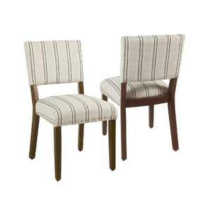 Set of 2 Upholstered Open Back Dining Chair - HomePop