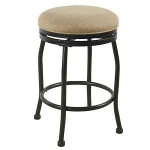 """24"""" Swivel Counter Height Barstool with Metal Legs - HomePop"""