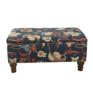 Large Rectangle Storage Bench with Nailhead Trim - HomePop