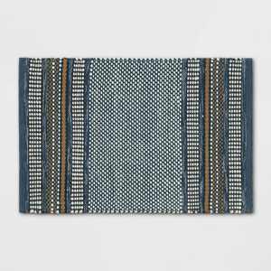 2'x3' Stripe Scatter Rug Blue - Threshold™